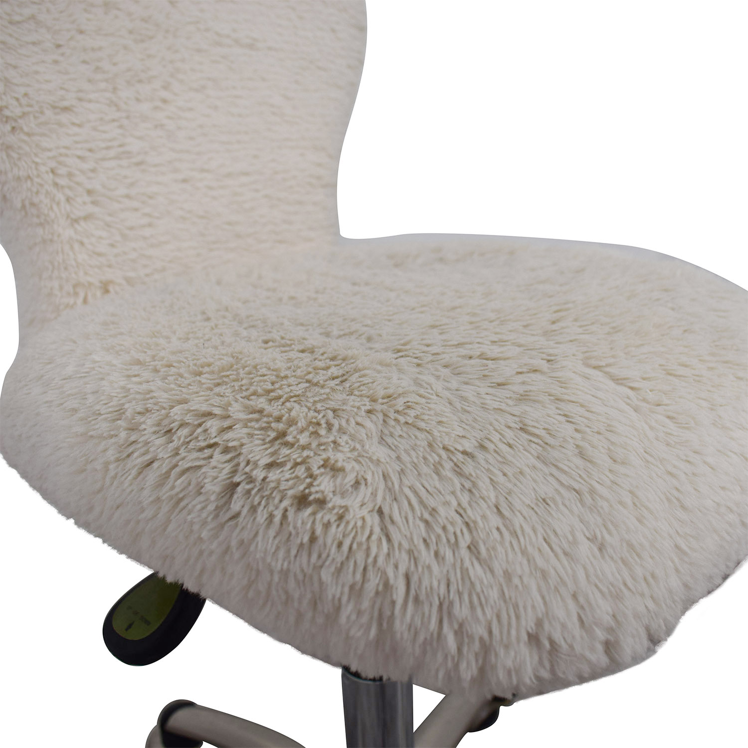 shop Pottery Barn White Fleece Covered Desk Chair Pottery Barn Accent Chairs