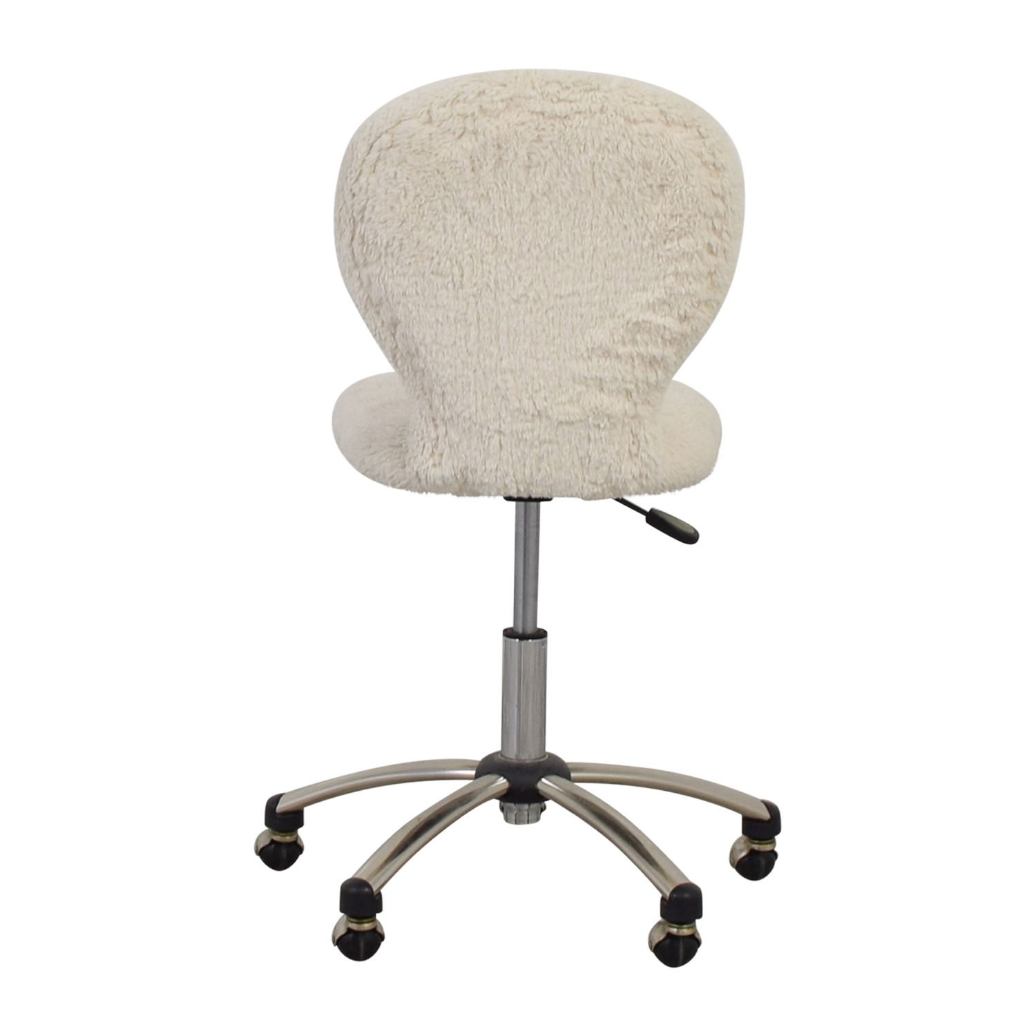 Pottery Barn White Fleece Covered Desk Chair / Accent Chairs