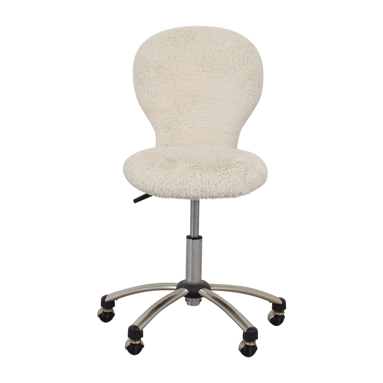 buy Pottery Barn White Fleece Covered Desk Chair Pottery Barn Chairs