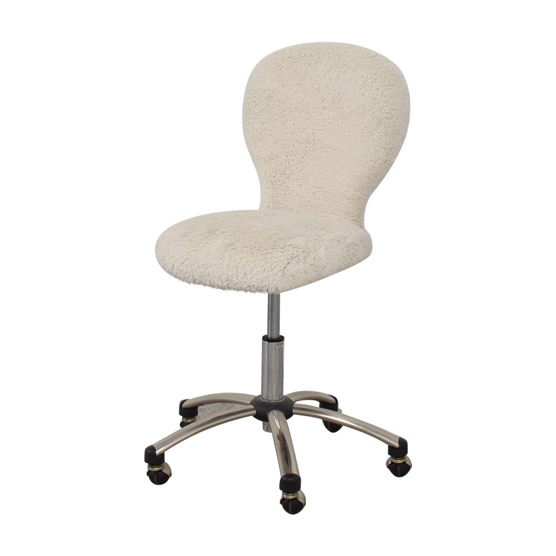 Pottery Barn Pottery Barn White Fleece Covered Desk Chair price