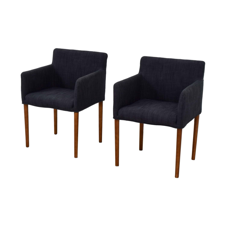 buy West Elm Ellis Navy Arm Chairs West Elm Chairs