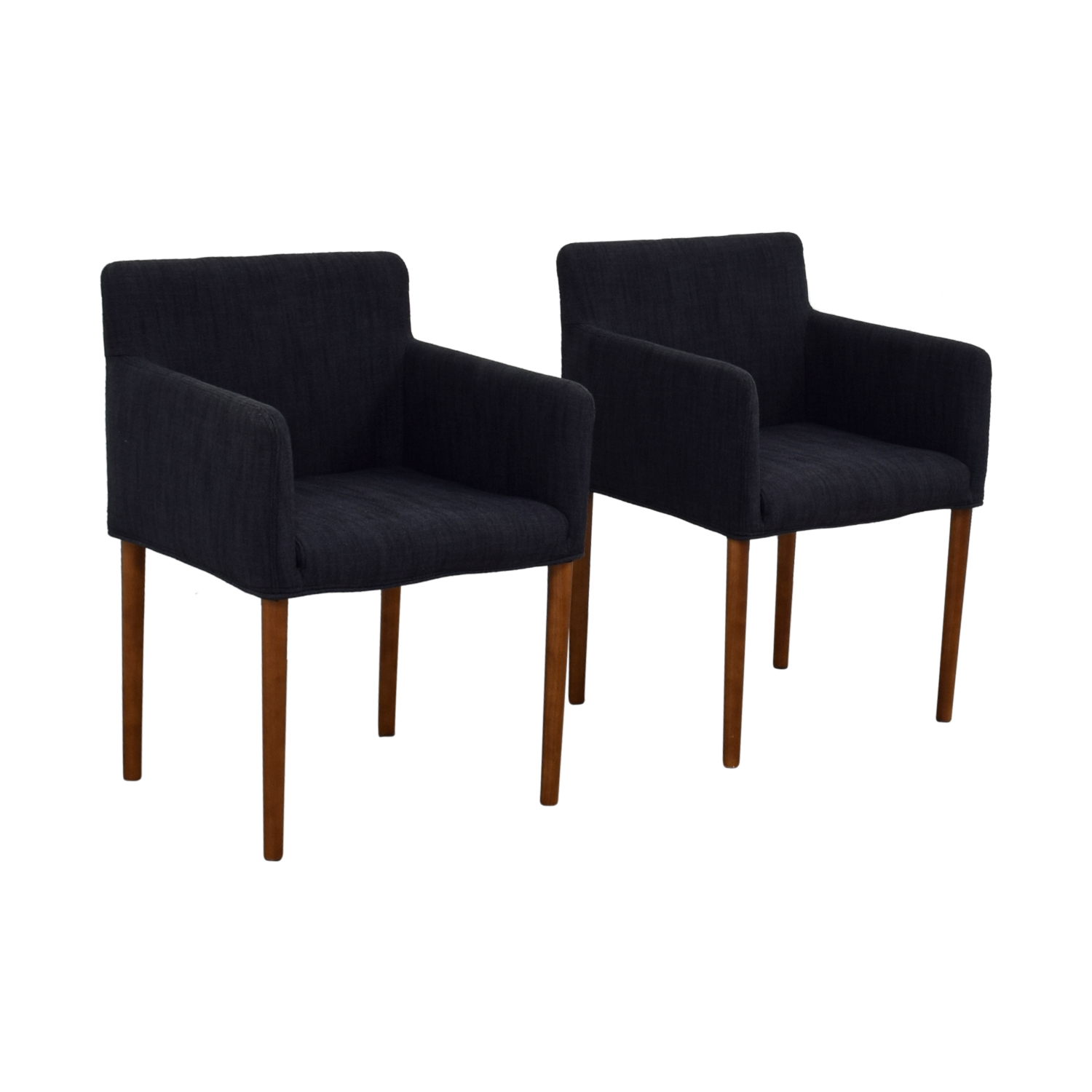 West Elm Ellis Navy Arm Chairs / Chairs