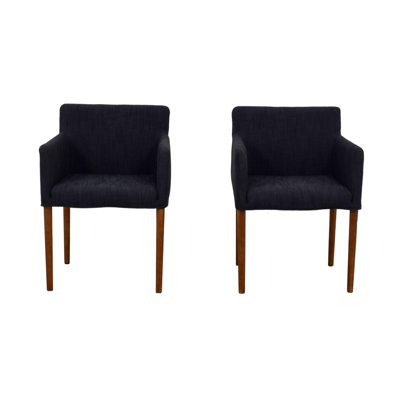 buy West Elm West Elm Ellis Navy Arm Chairs online