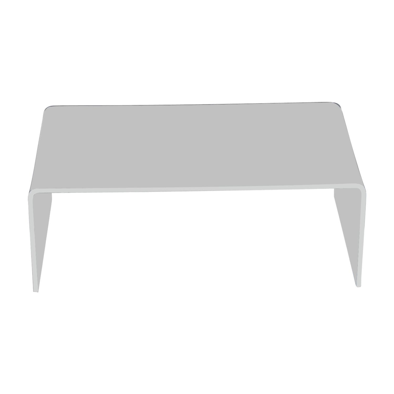buy CB2 Acrylic Coffee Table CB2 Coffee Tables