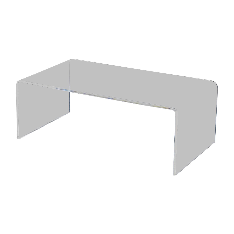 CB2 Acrylic Coffee Table / Coffee Tables