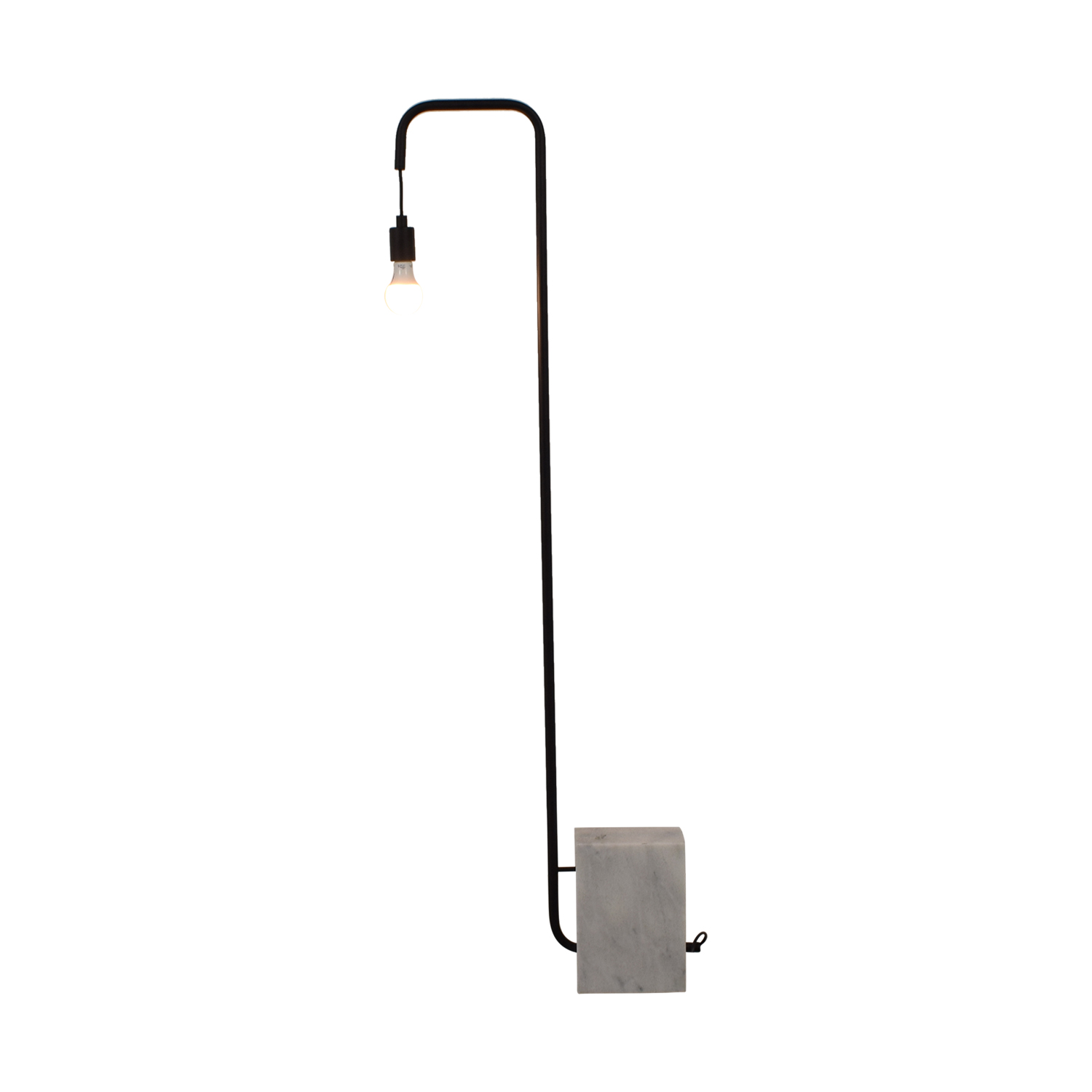 CB2 CB2 Marble Industrial Floor Lamp Black, Marble