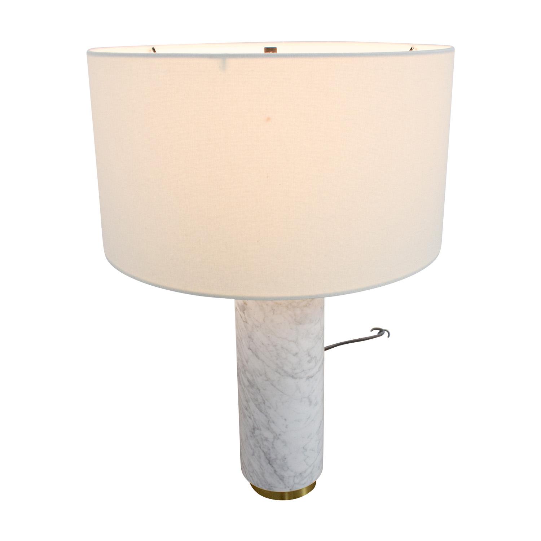 59 Off West Elm West Elm Marble Cylinder Desk Lamp Decor