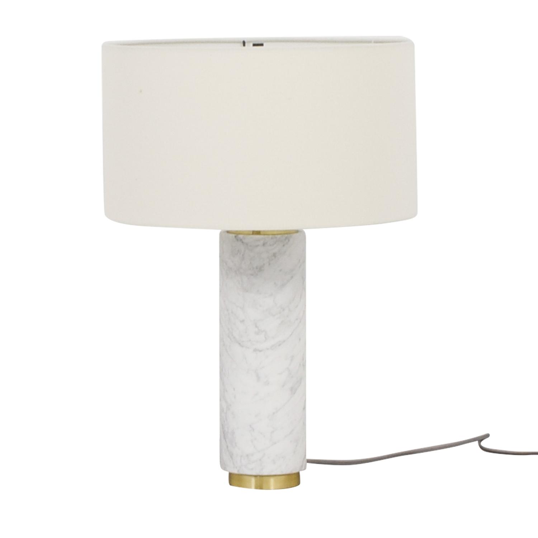 buy West Elm Marble Cylinder Desk Lamp West Elm Decor