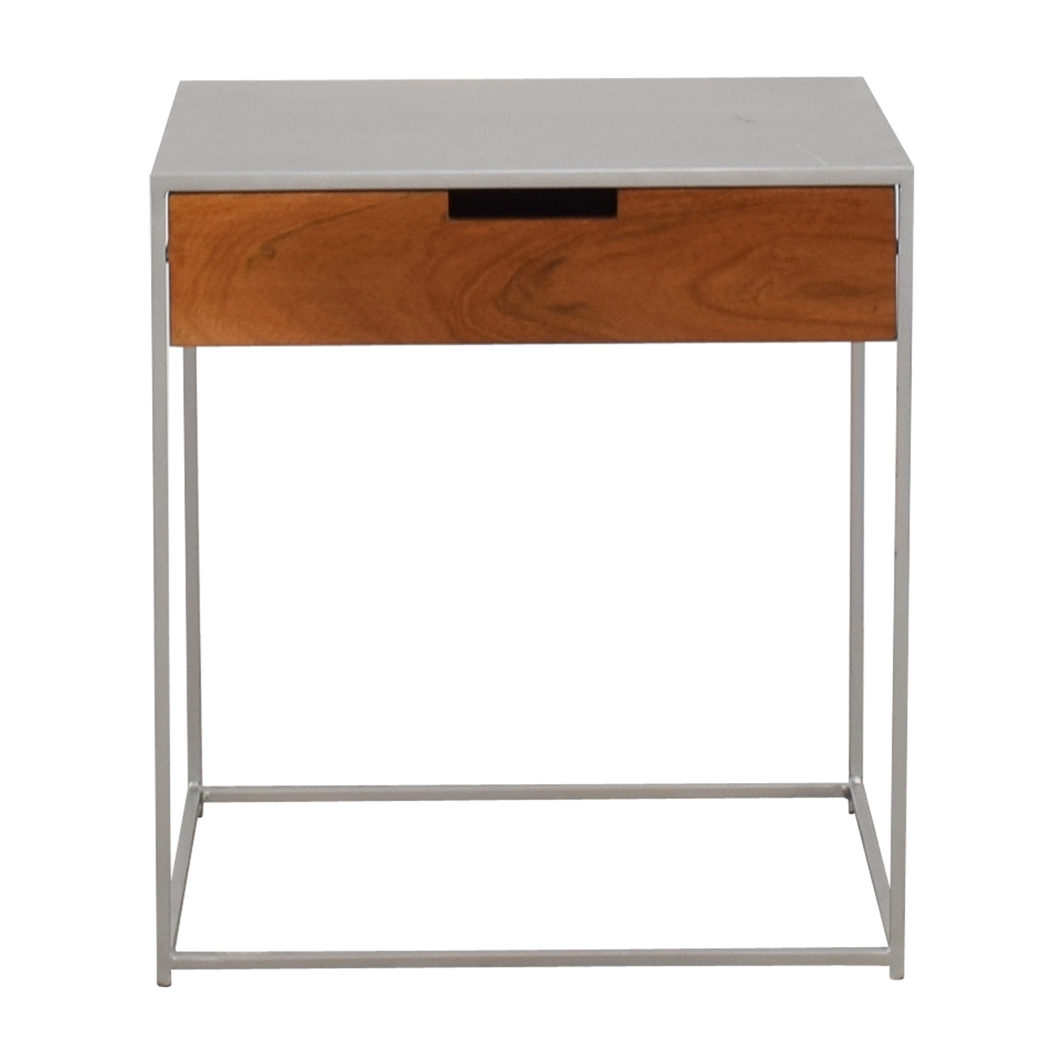 CB2 CB2 Audrey Metal and Wood Night Stand nj