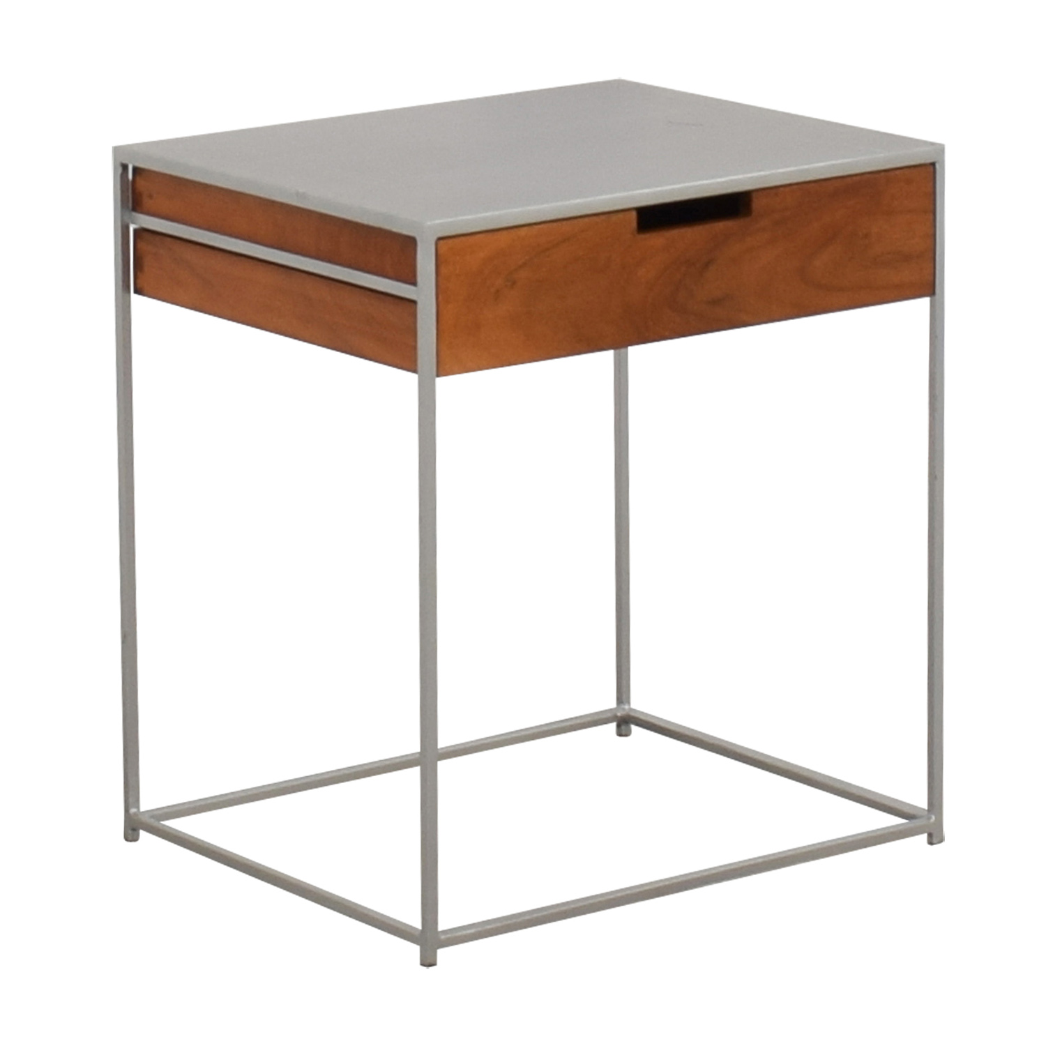 53 Off Cb2 Cb2 Audrey Metal And Wood Night Stand Tables