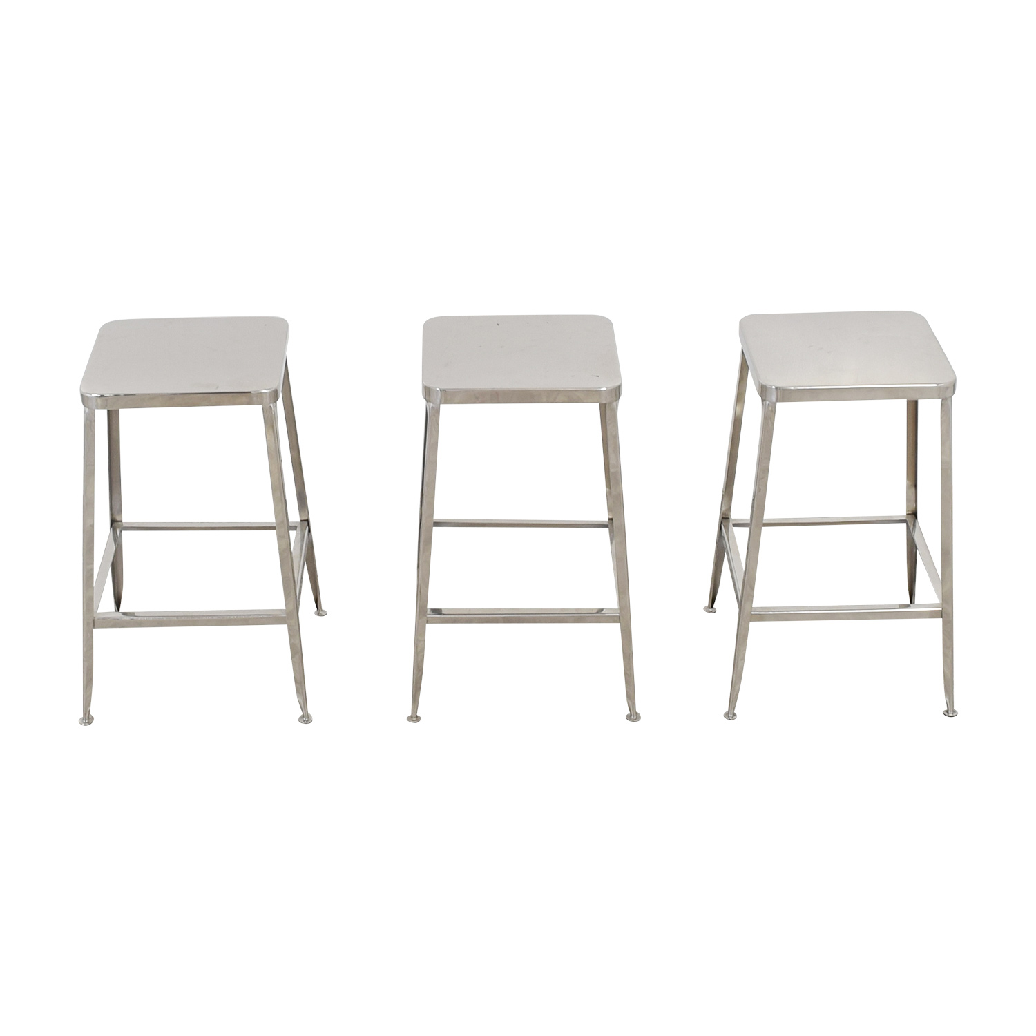 Admirable 56 Off Cb2 Cb2 Flint Metal Counter Stools Chairs Alphanode Cool Chair Designs And Ideas Alphanodeonline