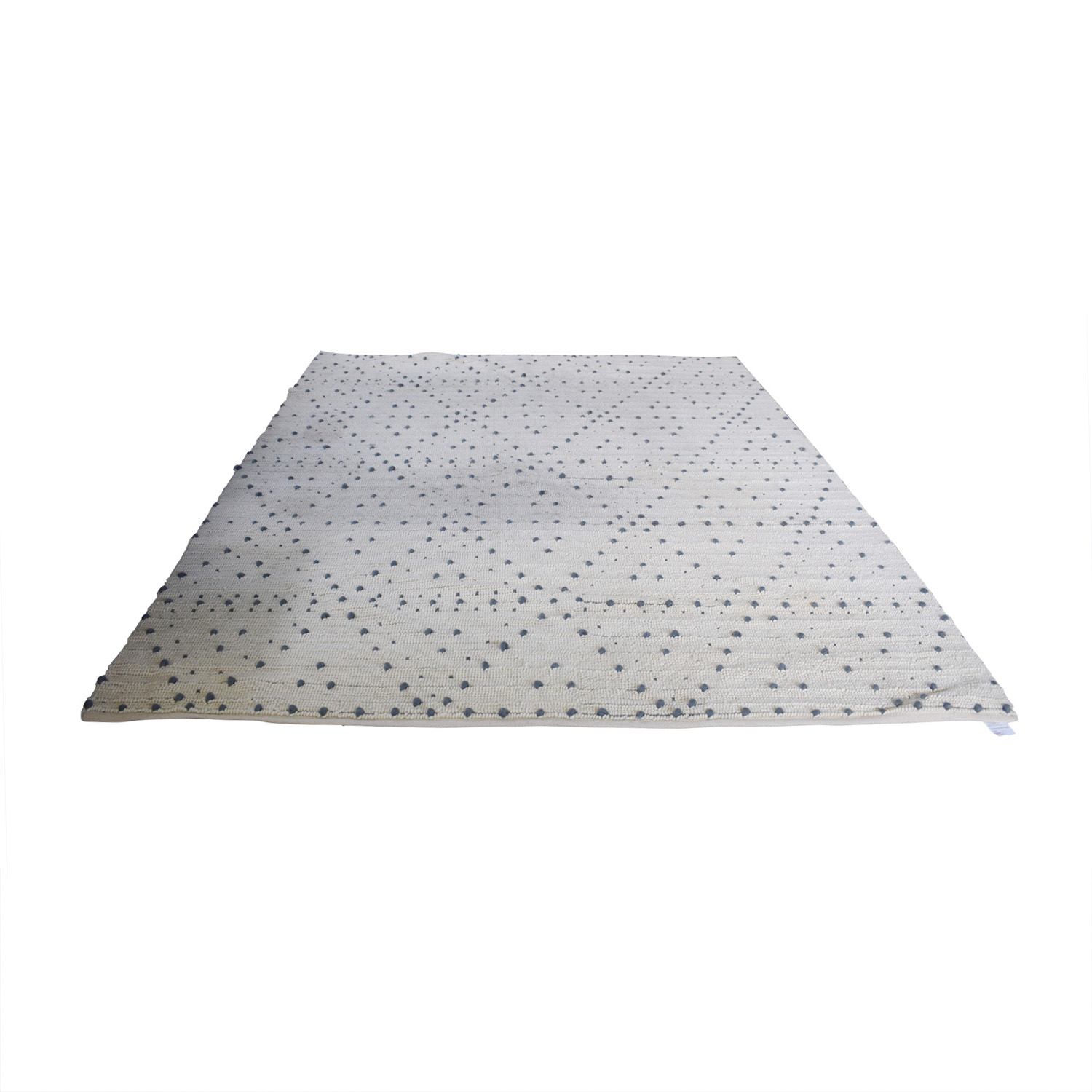 CB2 CB2 Orville White and Grey Rug