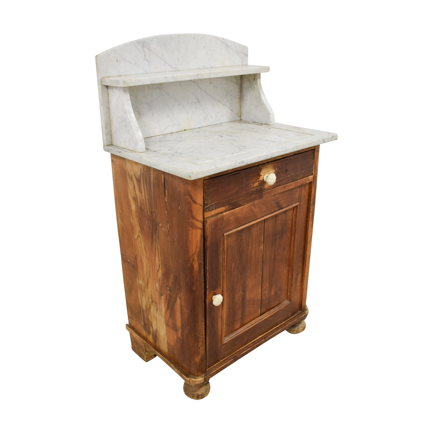Evergreen Evergreen Rustic Marble Topped Storage Cabinet used