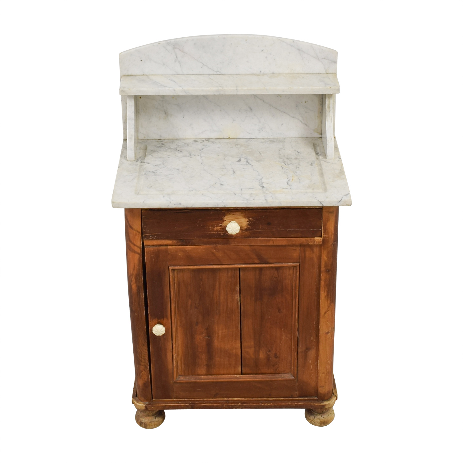 Evergreen Rustic Marble Topped Storage Cabinet Evergreen