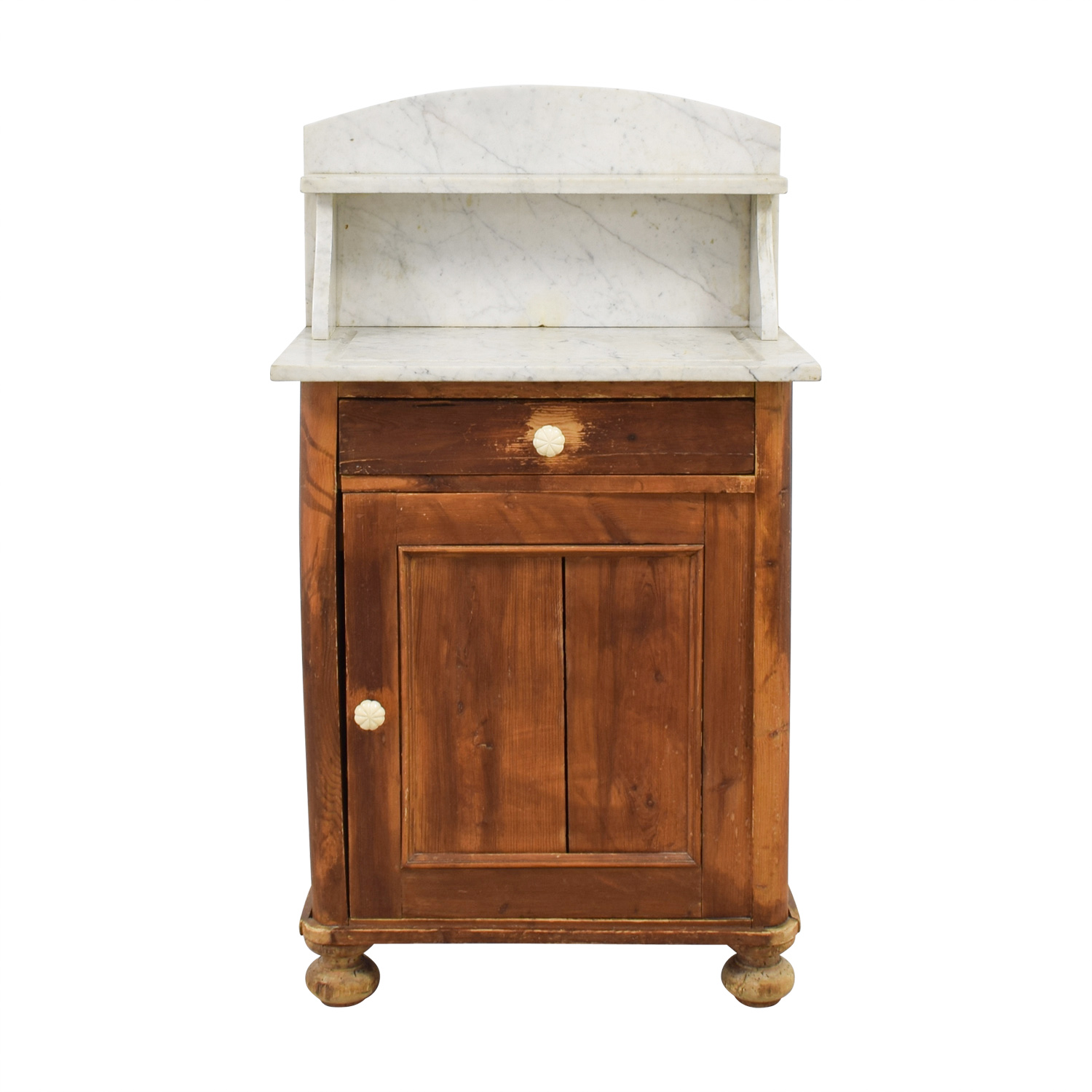 shop Evergreen Rustic Marble Topped Storage Cabinet Evergreen