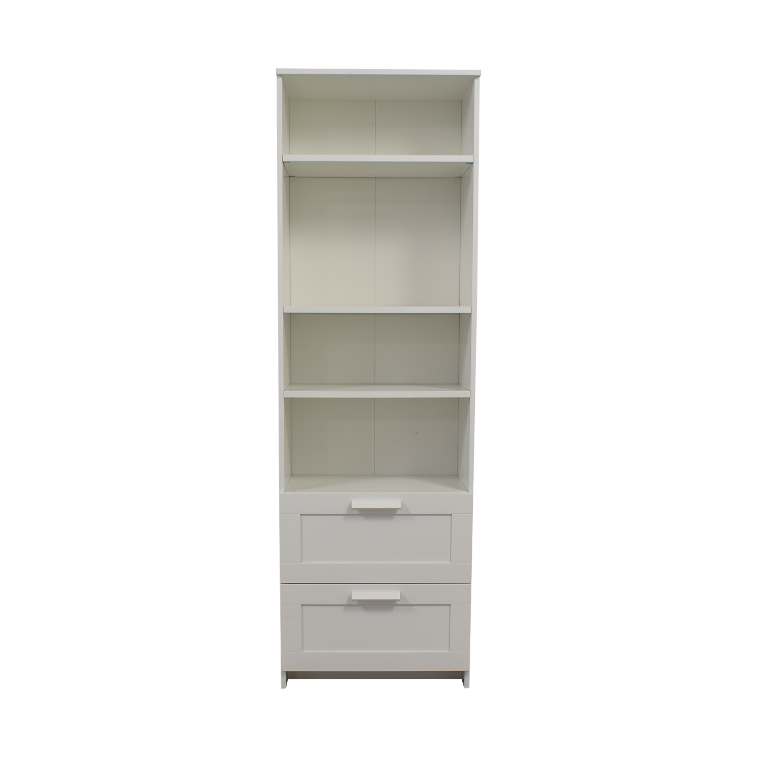 44 Off Ikea Ikea Brimnes White Bookcase With Two Drawers Storage