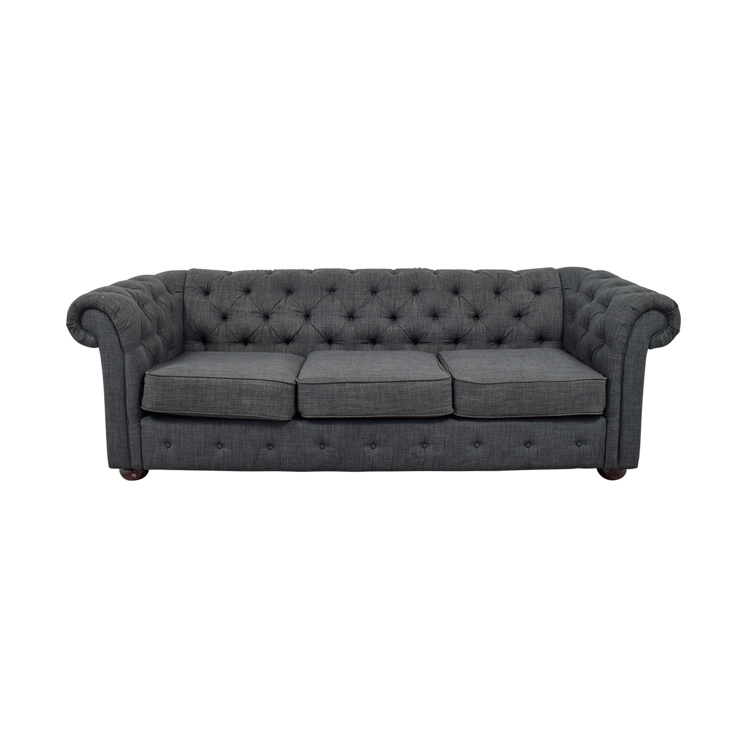 Greenworld Furniture Company Greenworld Chesterfield Style Charcoal Sofa  Coupon ...