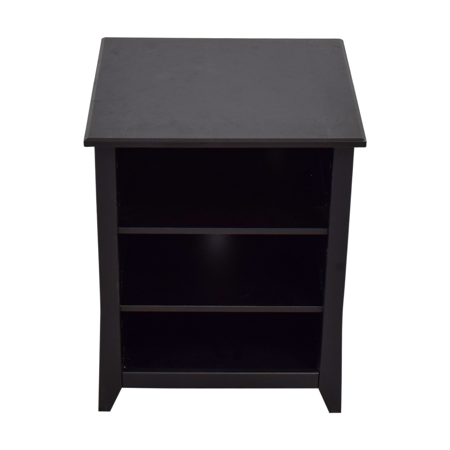 Black Three Shelf Media Unit or Side Table sale