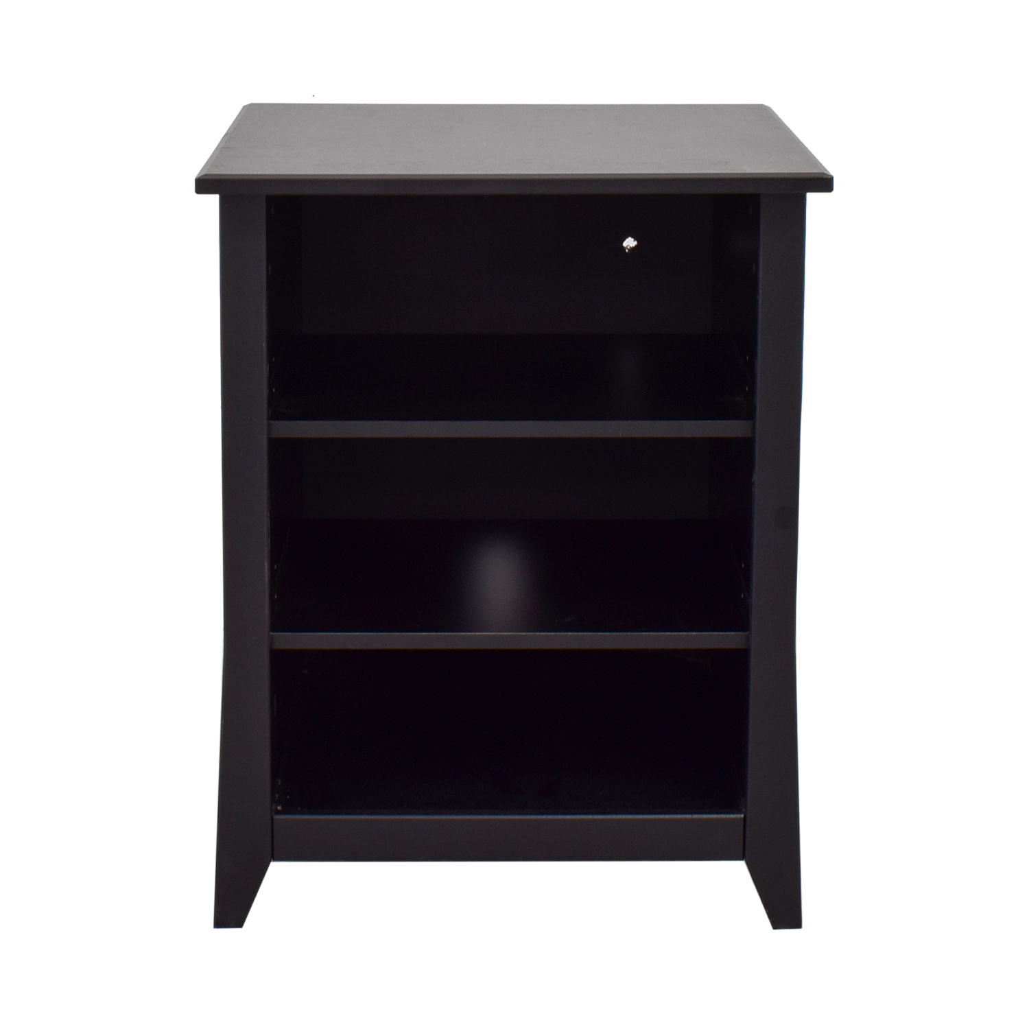 shop Black Three Shelf Media Unit or Side Table  Storage