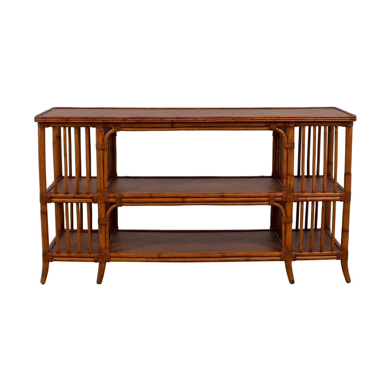 Ethan Allen Ethan Allen Rattan Media Console Sofa Table price
