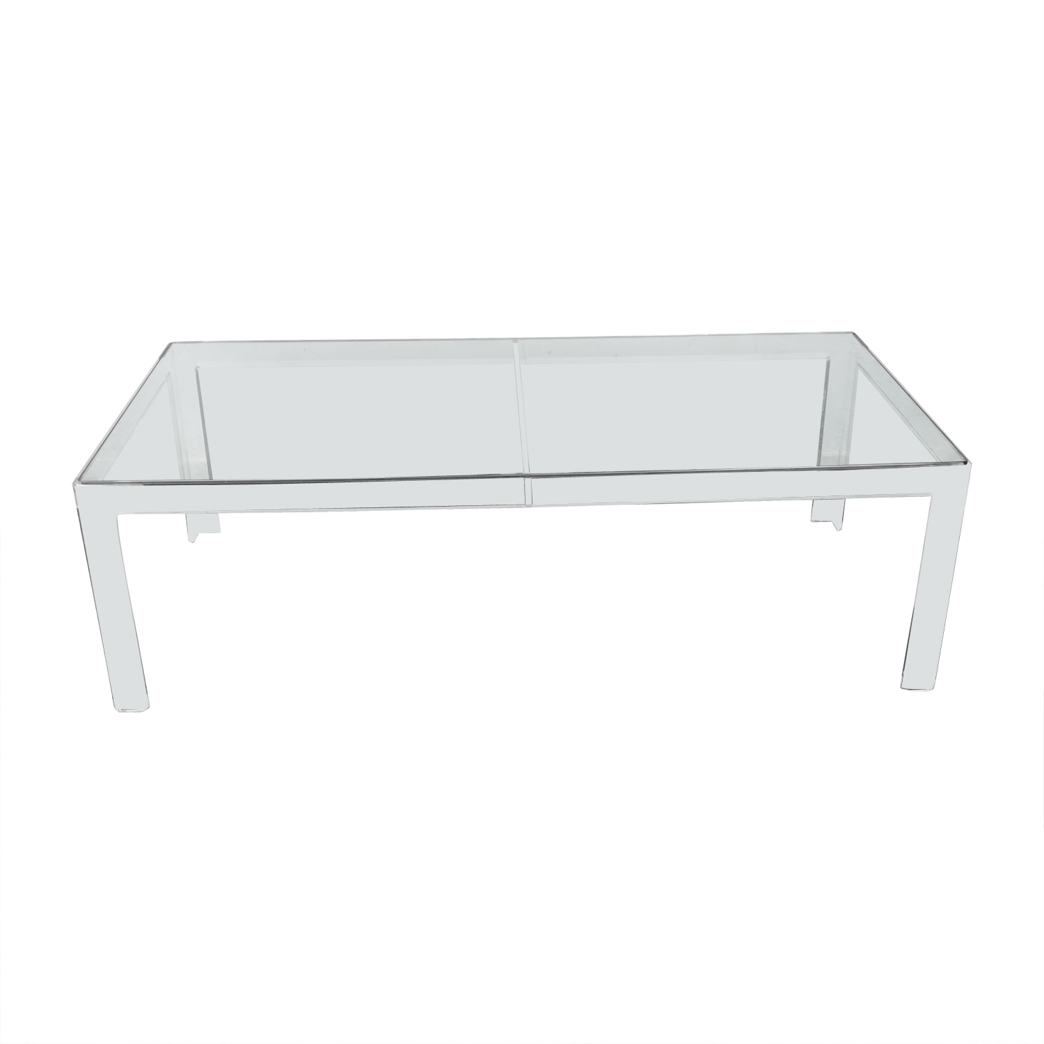 Lucite Mid Century Modern Table dimensions
