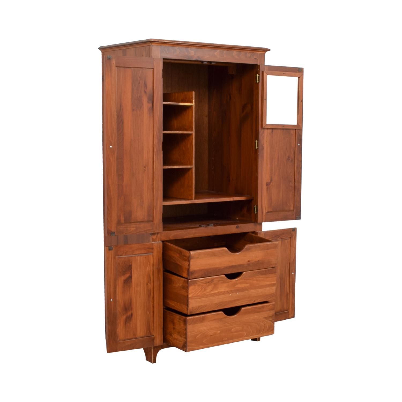 84 off laytners three drawer with shelving wood armoire storage rh kaiyo com