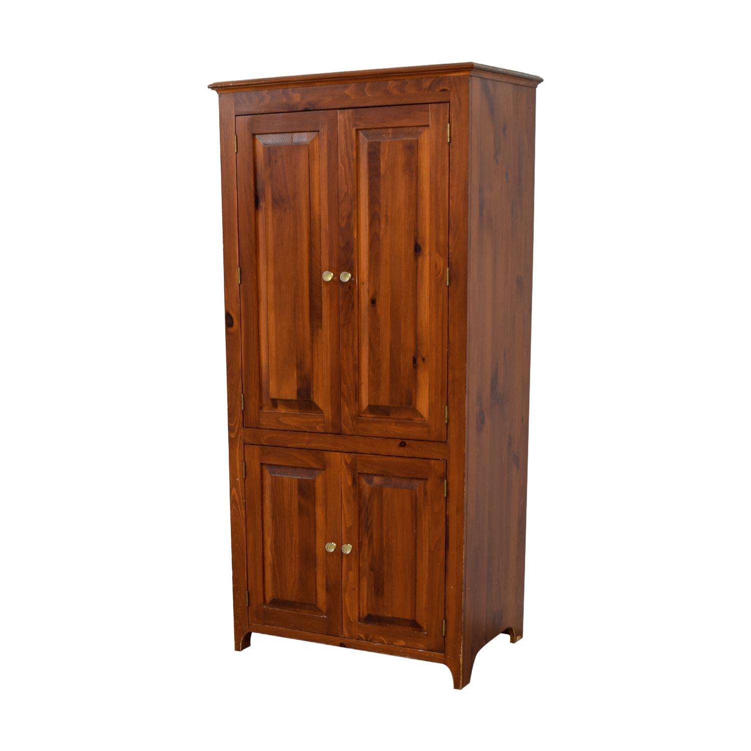 Laytners Three-Drawer with Shelving Wood Armoire Laytners