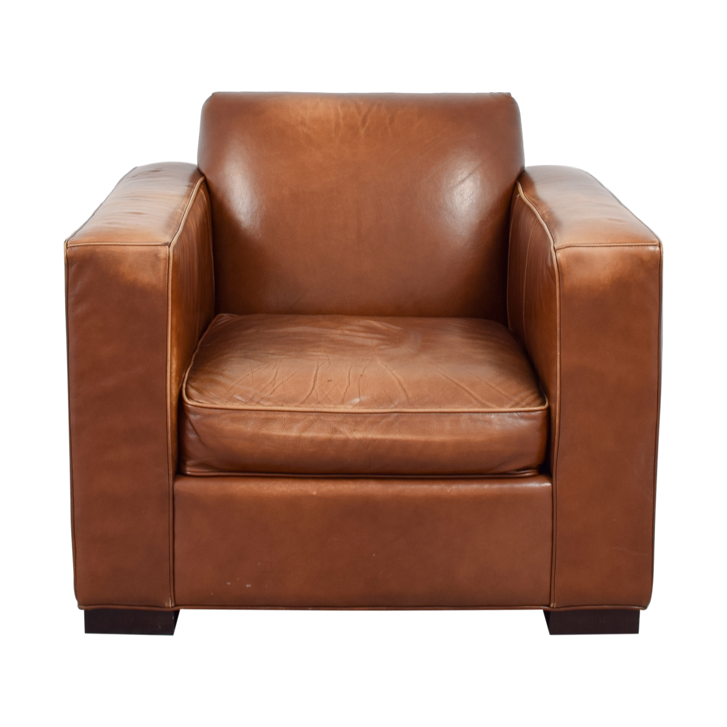 Room & Board Ian Saddle Leather Armchair / Chairs