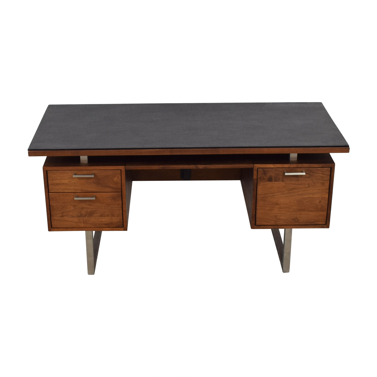 Crate & Barrel Crate & Barrel Clybourn Walnut Executive Desk discount