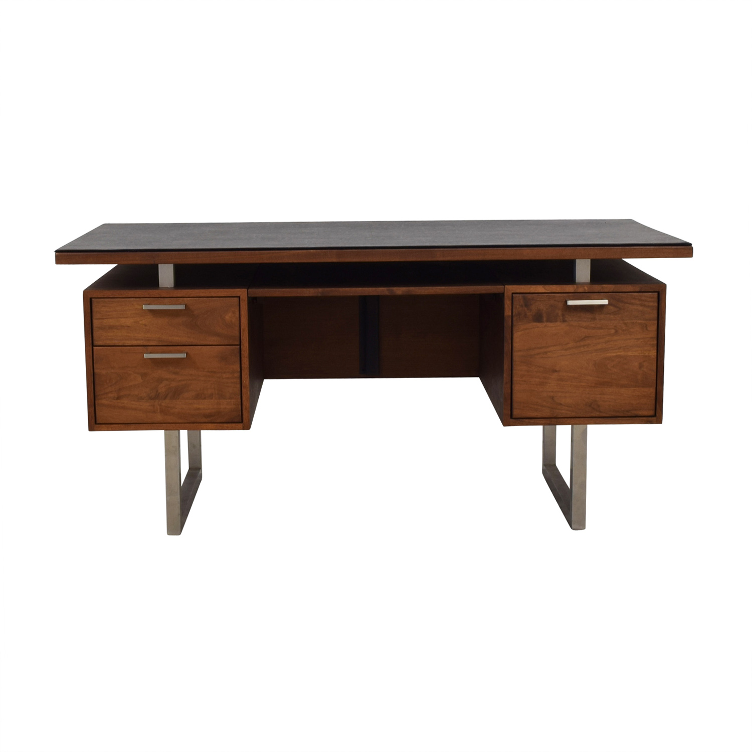 Crate & Barrel Crate & Barrel Clybourn Walnut Executive Desk