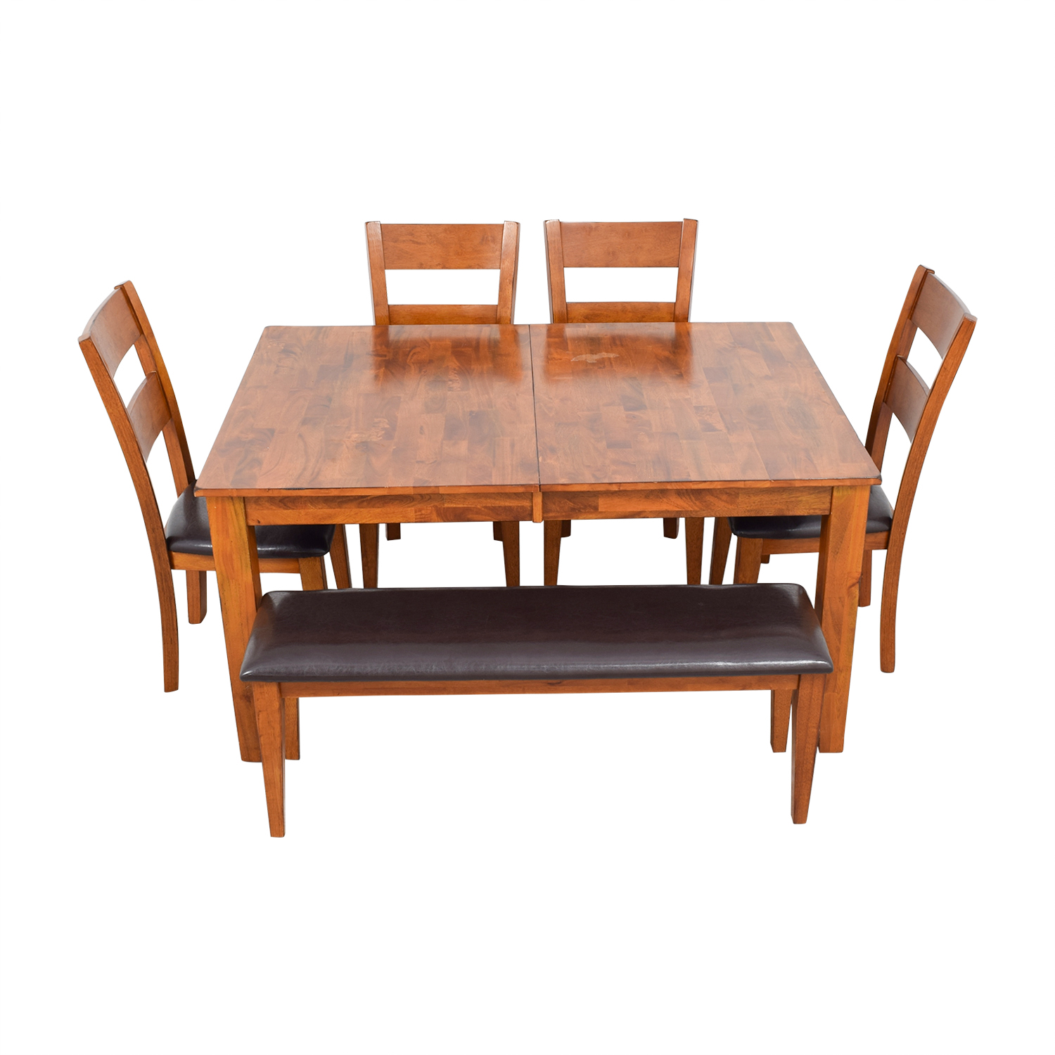 Steve Silver Co Steve Silver Co Mango Butterfly Leaf Dining Table with Chairs and Bench Dining Sets
