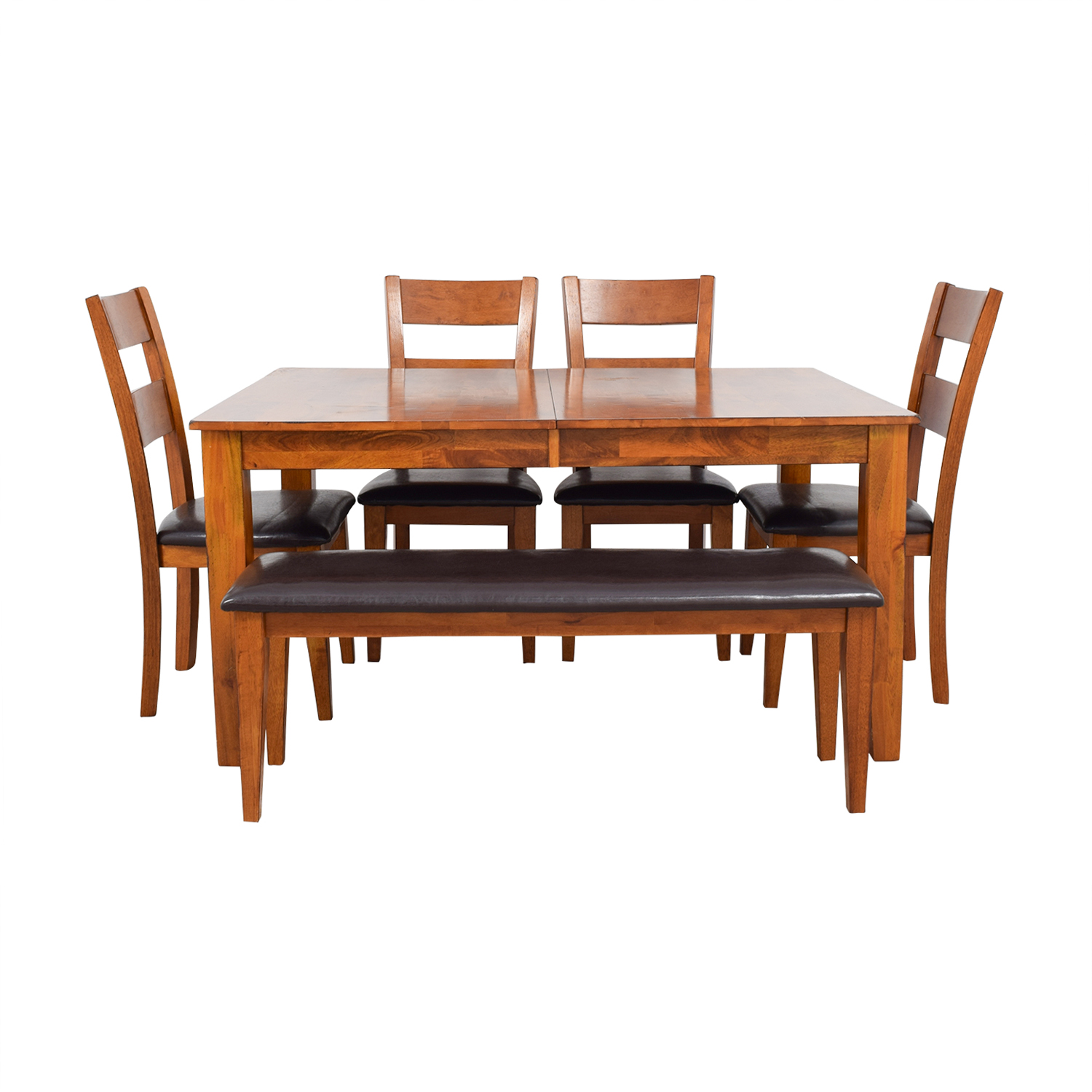 Steve Silver Co Mango Butterfly Leaf Dining Table with Chairs and Bench Steve Silver Co