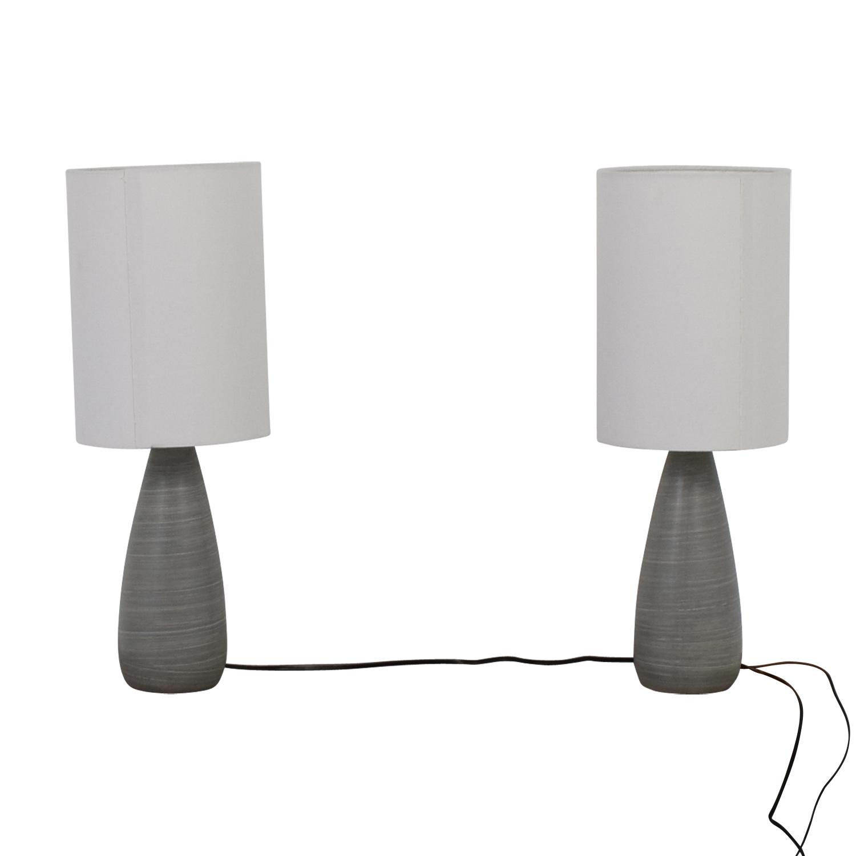Wayfair Wayfair Randal Silver Table Lamps Silver, White