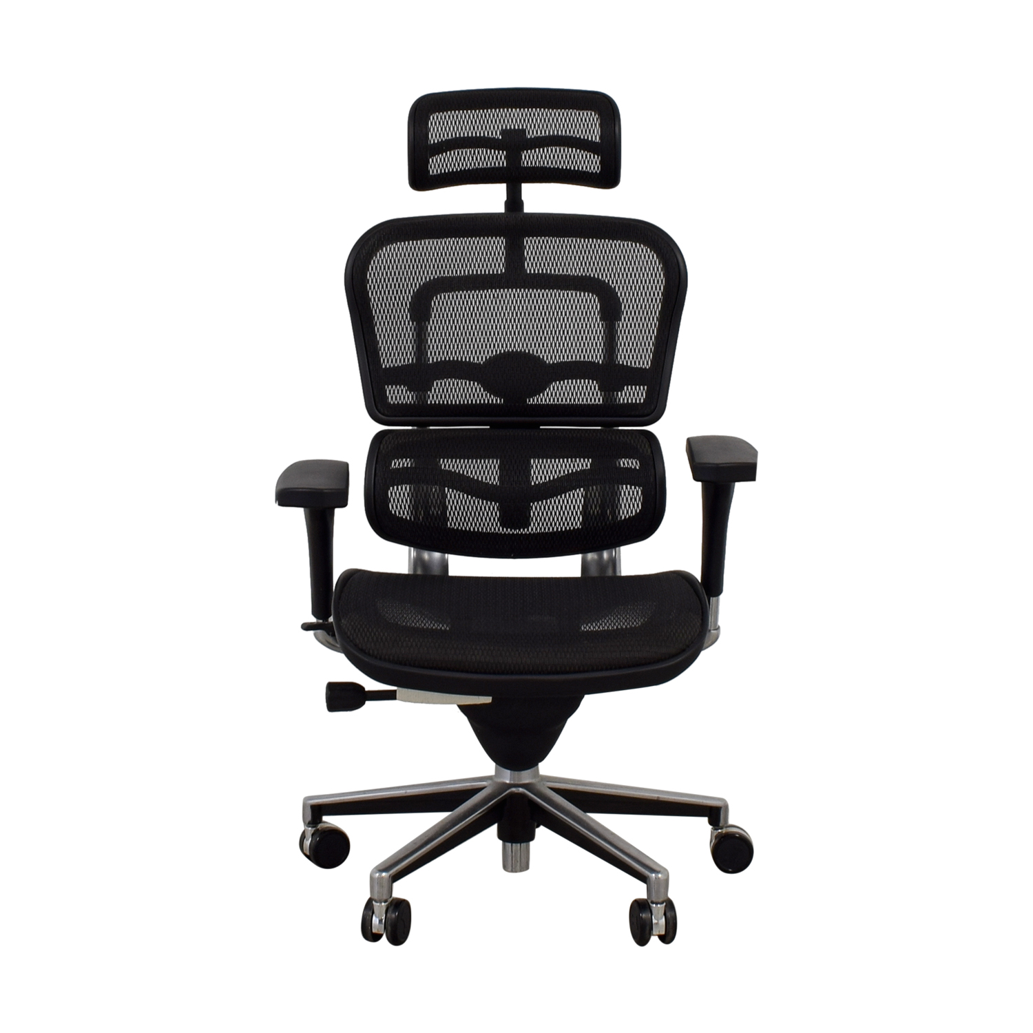 Ergohuman Ergohuman Black Swivel Chair with Headrest on sale
