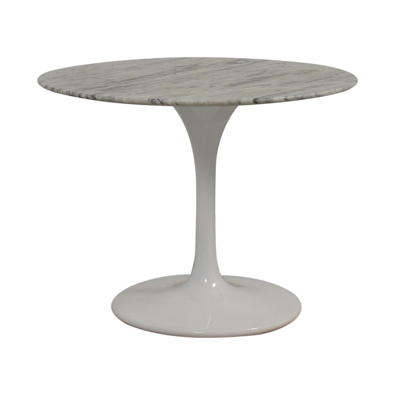 OFF Saarinen Style White Marble Tulip Dining Table Tables - Black marble tulip dining table