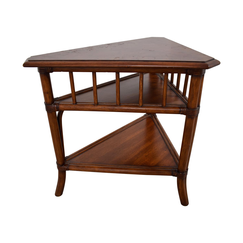ethan allen ethan allen triangular corner lamp table stand