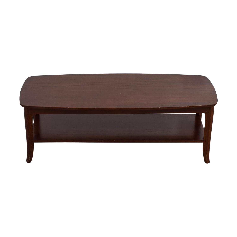 Pottery Barn Pottery Barn Wood Bottom Shelf Coffee Table for sale