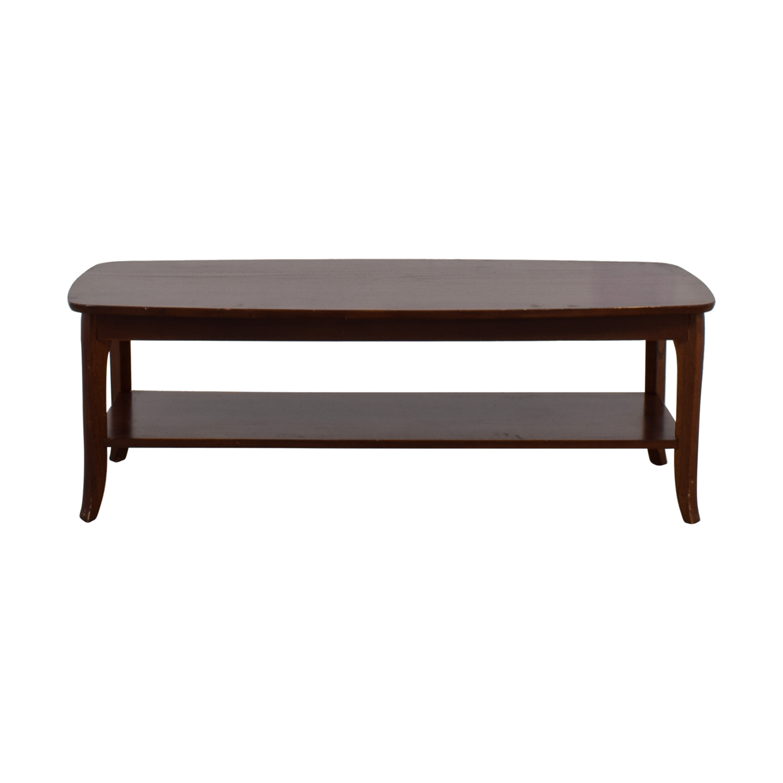 Pottery Barn Wood Bottom Shelf Coffee Table sale