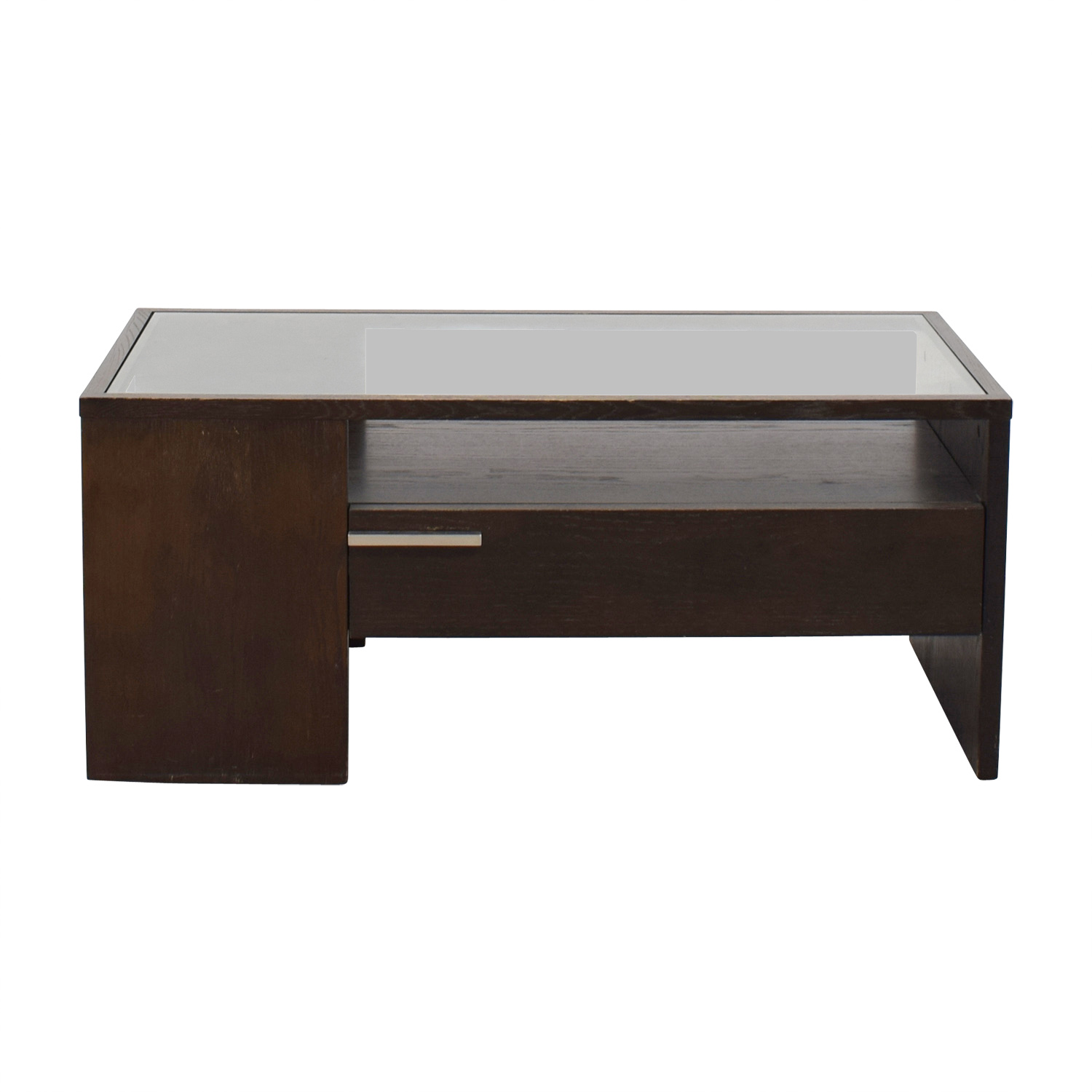 West Elm West Elm Single Drawer Glass Top Coffee Table nyc