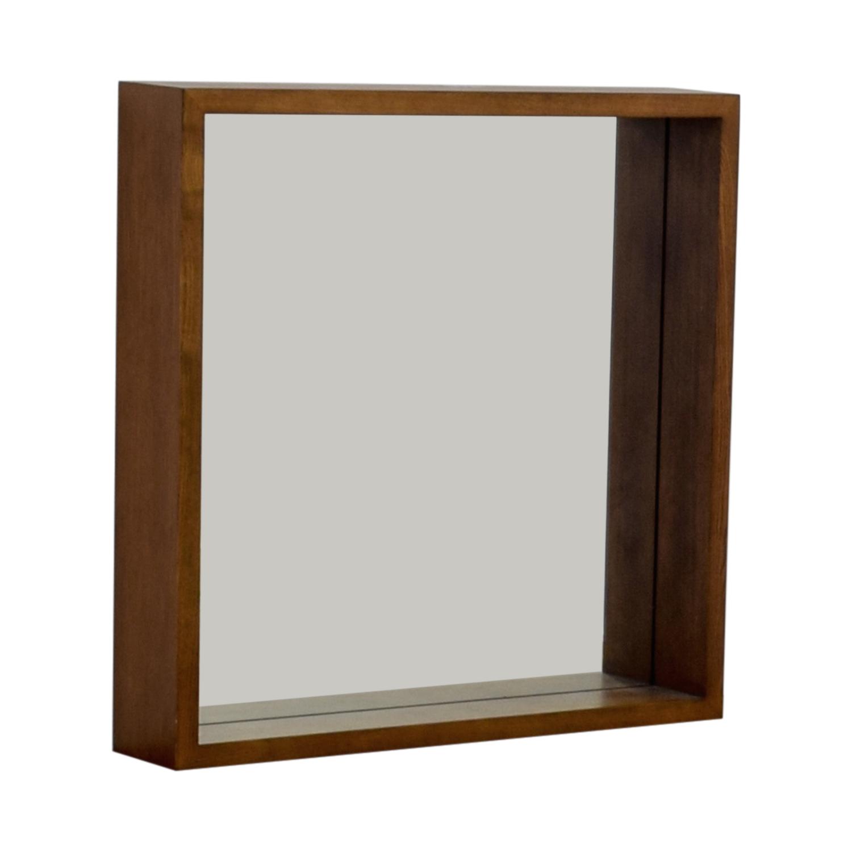 West Elm West Elm Wood Boxed Wall Mirror price