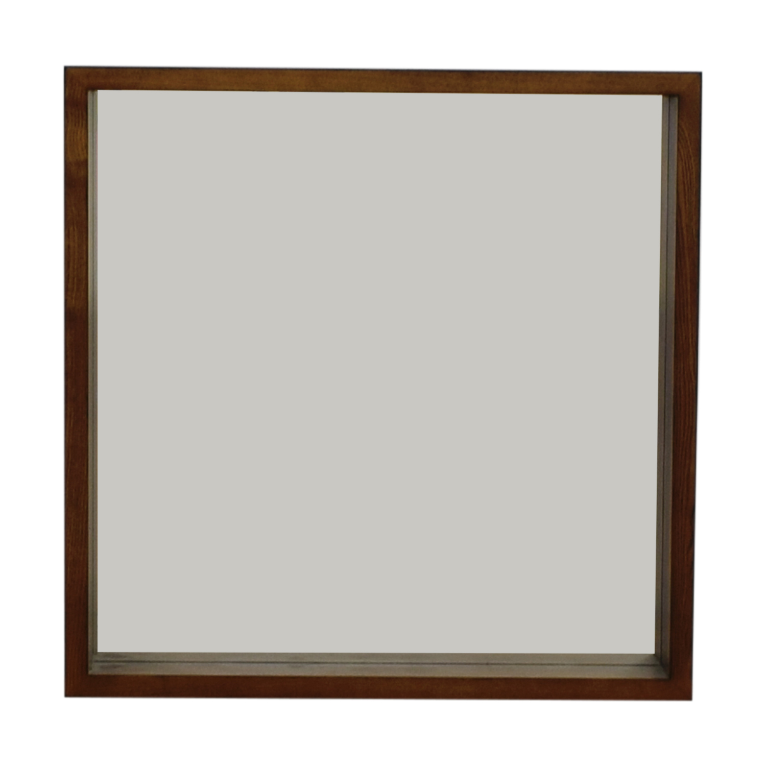 shop West Elm Wood Boxed Wall Mirror West Elm
