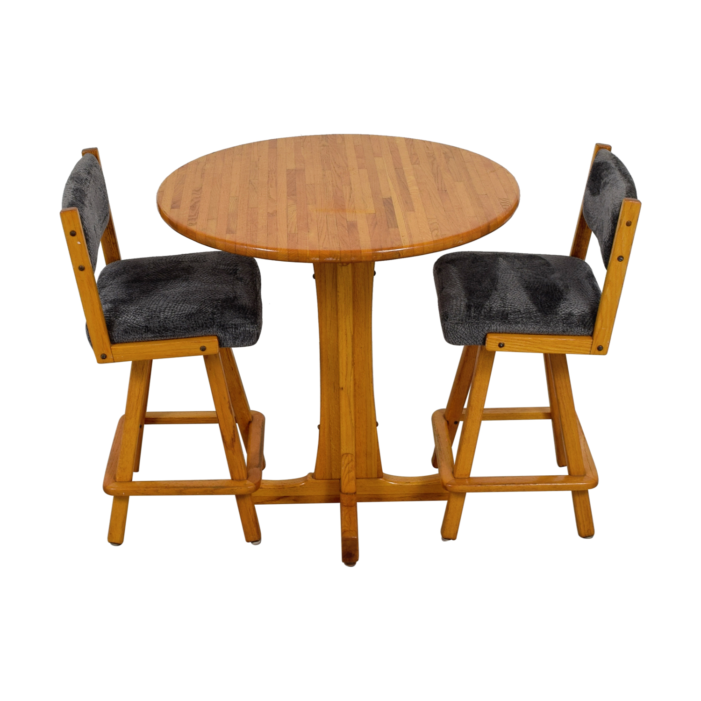 Vintage Wood Bistro Table Set sale