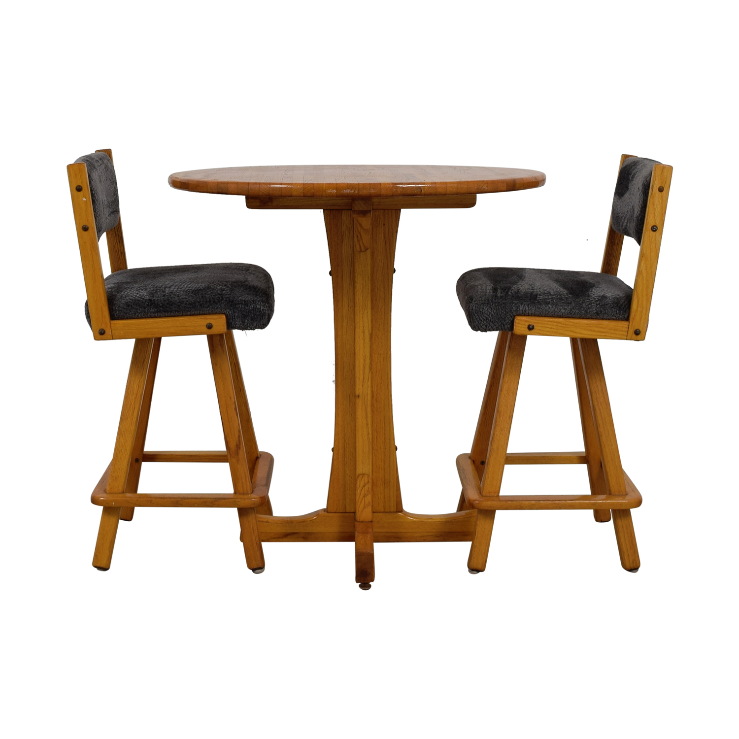 Vintage Wood Bistro Table Set price  sc 1 st  Kaiyo & 84% OFF - Vintage Wood Bistro Table Set / Tables