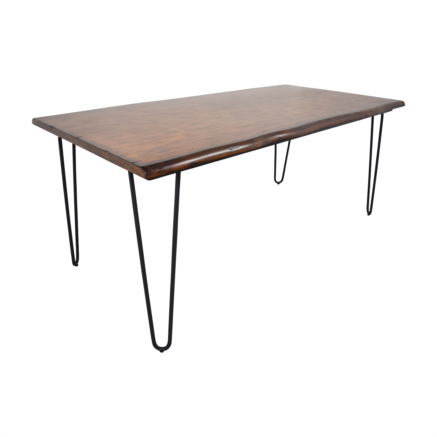 World Market Wood Flynn Hairpin Dining Table World Market