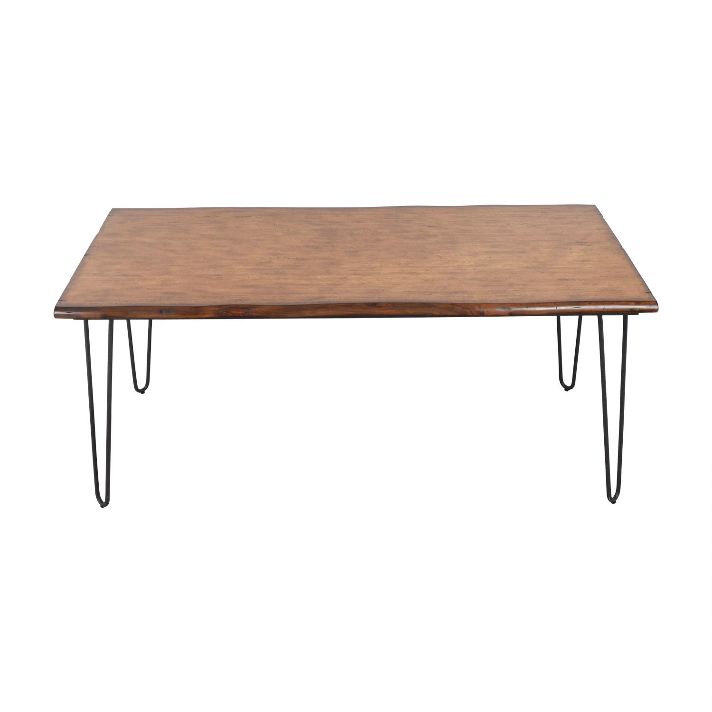 buy World Market Wood Flynn Hairpin Dining Table World Market