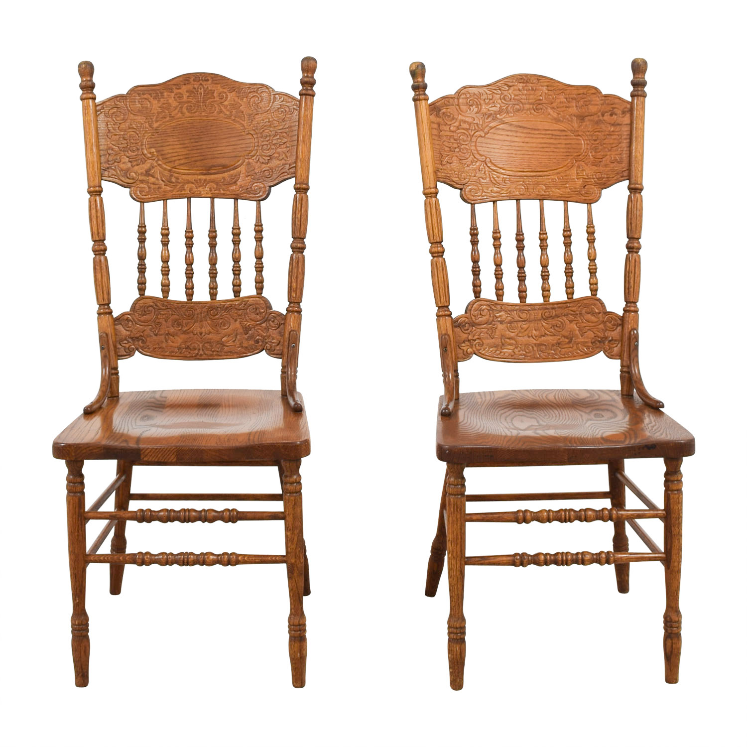 buy  Antique Floral Carved Wood Chairs online