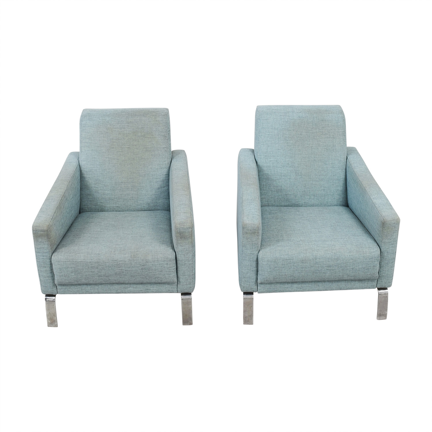 Boconcept Turquoise Fly Accent Chairs Second Hand