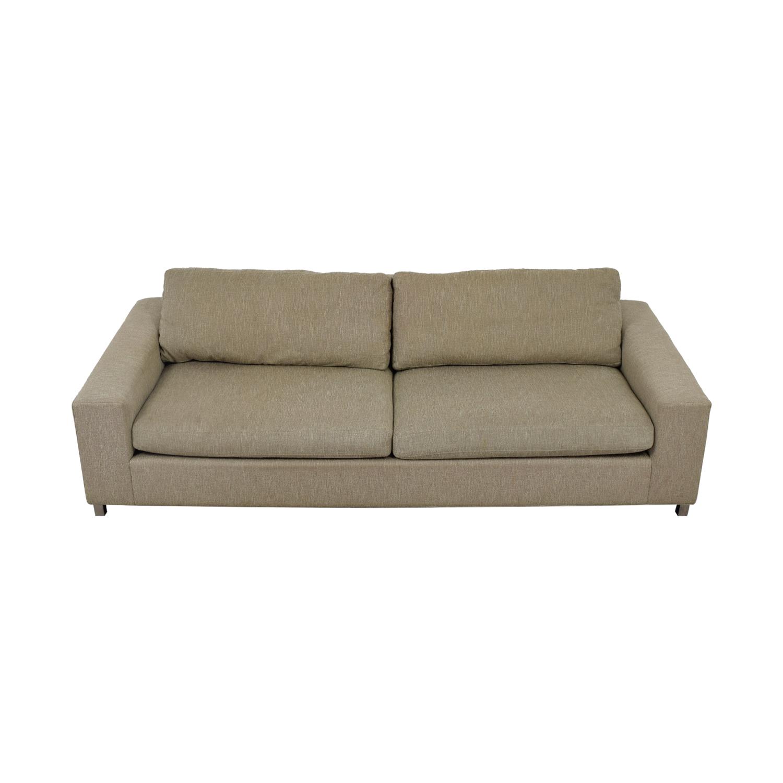 Room & Board Beckett Beige Two-Cushion Sofa Room & Board
