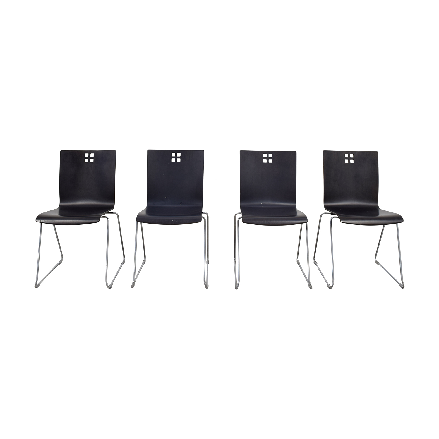 Leland International Leland International Marquette Dining Chairs - Set of 4 Black