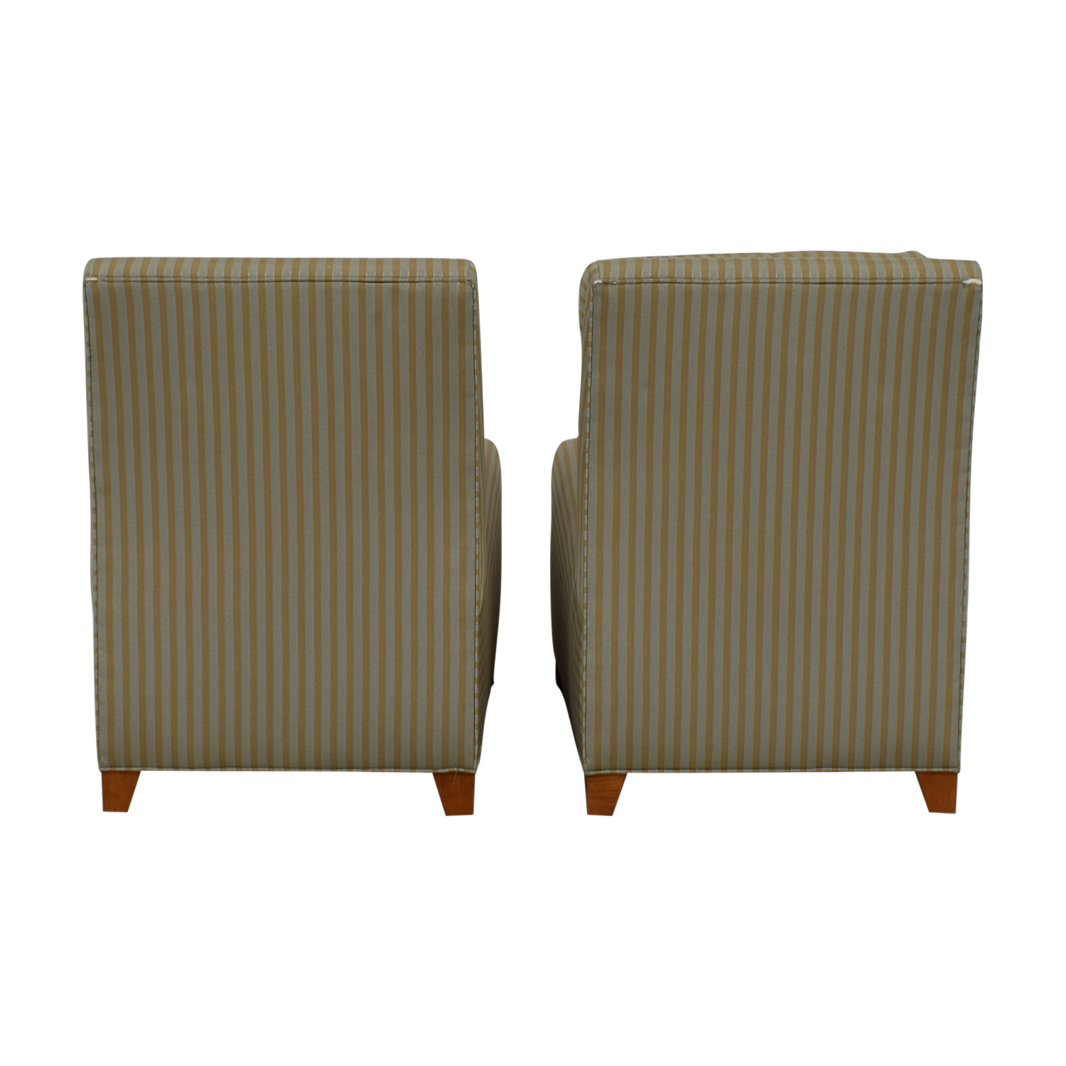 shop Ethan Allen Ethan Allen Striped Slipper Accent Chairs online